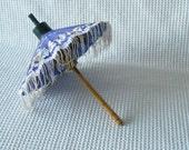 Mini Parasol Purple Floral Vintage Umbrella