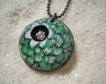 Fish Scale Pendant | Flower Jewelry | Artisan Jewelry