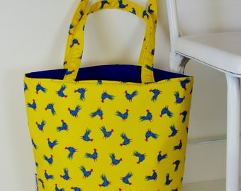 Tiny Roosters Tote Bag