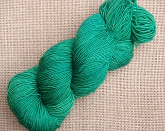 """Hand dyed British Bluefaced Leicester/nylon sock yarn in """"Bacchus"""""""