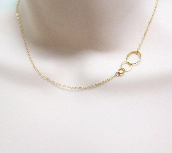 three circle eternity necklace linked circles by