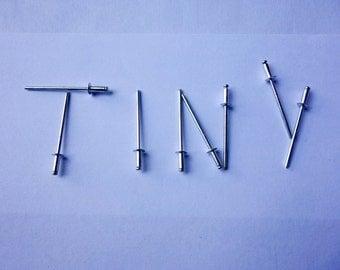 """Tiny Aluminum Rivets (3/32"""")"""