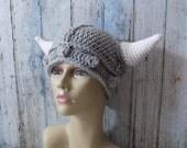 Toddler to Adult Crochet Viking Hat - Crochet Kids Helmet - Toddler Viking Helmet - Crochet Viking Helm - Viking Baby Hat - Kids Crochet Hat