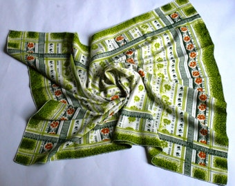 Vintage Head Scarf or Neck Scarf Shawl 1970s - Gorgeous Thin Scarf Shawl - Beautiful Accessory Excellent Condition