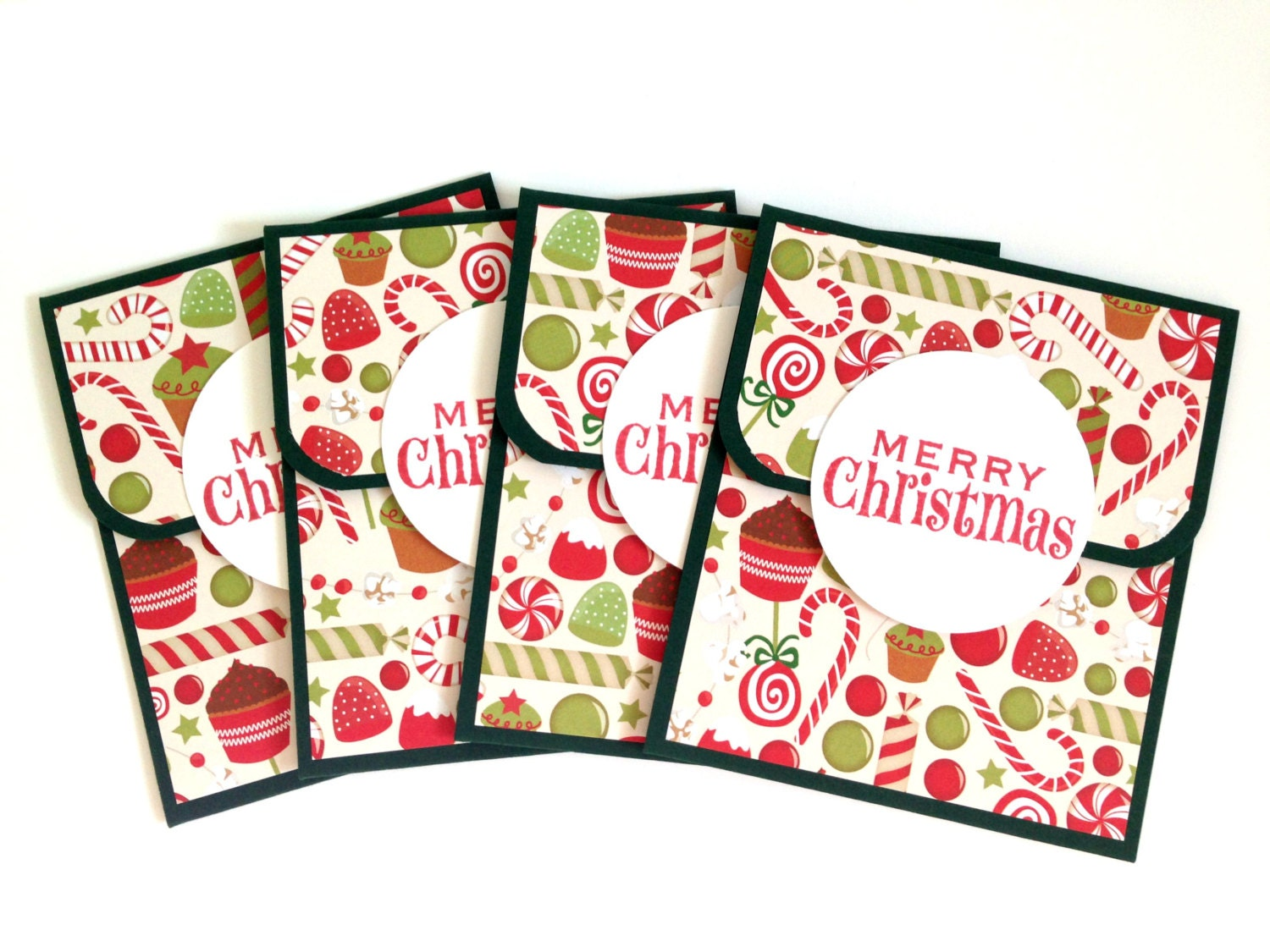 Candy Christmas Gift Card Holders Holiday Money Envelopes