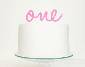 One Personalised Age Number Word Cake Topper - Birthday Celebration Party