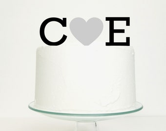 wedding cake toppers brighton initials with cake topper 26426