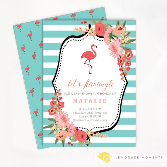 flamingo baby shower invitation baby shower invite