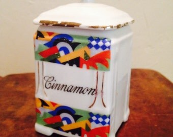 "China Canister ""Victoria"" for cinnamon from Czechoslovakia"