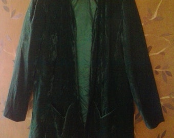 70s velvet emerald green jacket