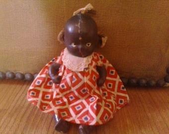 1930s vintage bisque black Americana baby doll
