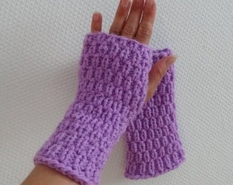 Knit Fingerless Gloves Arm Warmers Fingerless Mittens Hand Warmers Fingerless Gloves great driving / texting - seamless  any color