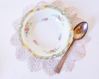 Gold Floral China Dessert Bowls Victorian Edwardian Parisian Apartment Black Knight Lenora Downton Abbey Serving  Weddings