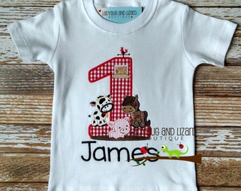 Birthday Farm Number Top Size 12M-18M, 2T-5T, 6