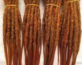CUSTOM short crochet synthetic dreadlock extensions - natural look, single ended, 30 pieces.