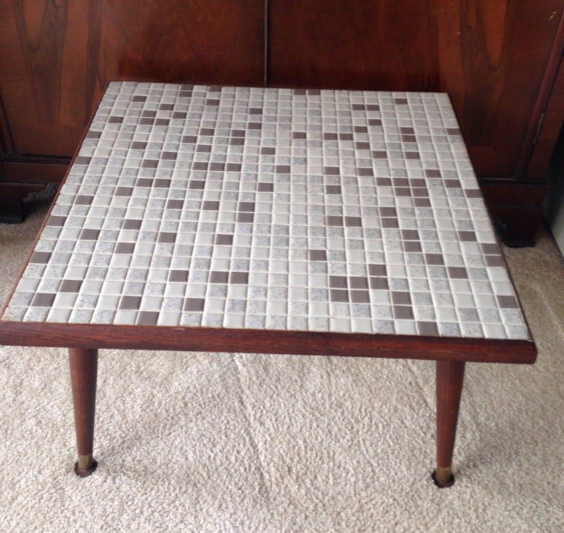 Vintage Mosaic Tile Coffee Table Mid Century Coffee Table