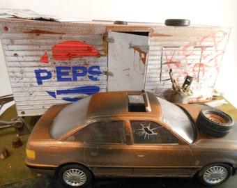 Junkyard Classicwrecks Rusted Scale Model Diorama
