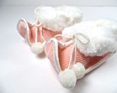 Pink Baby Booties, Pink Baby Shoes, Infant Shoes PINK, Size 0 baby shoes, winter baby shoes