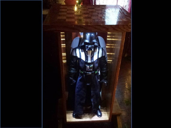 Star wars chess set board and darth vader storm trooper - Chess board display case ...