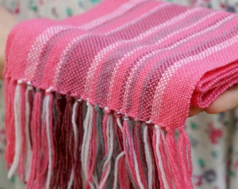 hand woven wrap pink merino wool scarf for baby Baby Scarf