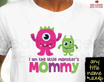 ADULT Monster Birthday Shirt - Personalized Monster Birthday Shirt - Mommy Monster Shirt