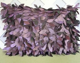 Ribbon Petals Pillow in Grape / Purple Ribbon Petal Pillow /  Purple Pillow / Novelty Pillow / Accent Pillow / Decorative Pillow