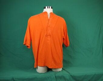 Orange adult henley shirt  #401
