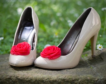 Red Shoe Clips - made to order