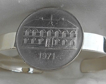 Iceland Vintage Coin Cuff Bracelet 1971