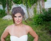Birdcage Veil - Honeycomb Wedding Veil, Traditional Bridal veil - ivory, white - VE412 - READY TO Ship