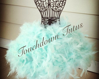 Mint Green feather tutu or customize your own