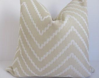 Chevron Pillow Cover,18x18 Pillow Cover , Cream Pillow Cover, Tan Pillow Cover, Zig Zag Pillow, Pillow Cover, Pillow, Tan Cream Pillow