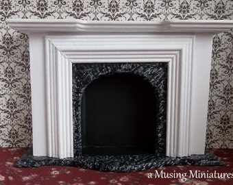 Classic Federal Fireplace in 1:12 Scale for Dollhouse Miniature Williamsburg Roombox