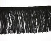 2 Yards Black Fringe Trim  4 inch Wide