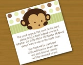 INSTANT DOWNLOAD Mod Pod Pop Monkey Book Request Cards Digital File