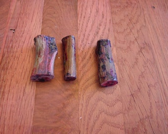 3 double dyed and stabilized antler pen blanks