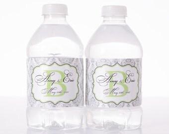Vintage Wedding Decor - 150 Wedding Water Bottle Labels - Custom Water Bottle Labels - Waterproof Water Bottle Labels