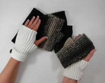 Crochet Pattern - Fingerless Gloves Crochet Pattern #403 - Knit Look - Instant Download PDF