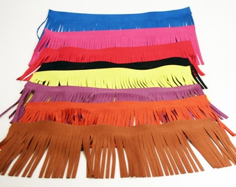 """Microfiber Suede 4"""" Fringe Great for Arts and Crafts - Sold by the Foot"""
