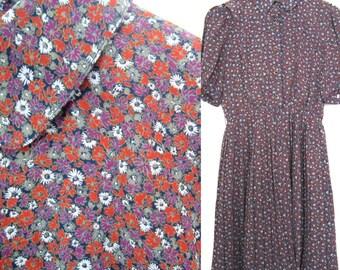 Vintage floral dress in size S/M