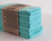 Cloth Diaper Wipes - Family Cloth - Solid Tiffany  Baby Wipes Cloth Wipes Set of 20 Baby Wipes - Reusable Flannel Wipes