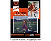 CHEERLEADING MM2 - 8x10 Memory Mate Sports Photo Template - Digital File