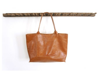 Belleville Tote - Available in two sizes - Italian Leather - Cognac