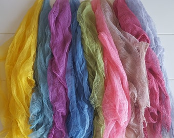 SET OF 9 Newborn Cheesecloth Hand Dyed Boy Girl Photo Prop Dyed Upon Order
