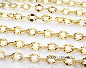 1M / 3ft,  23k Gold Plated Chain Excellent Quality Unique Jewelry Findings // 4mm x 5mm // CH012-BG