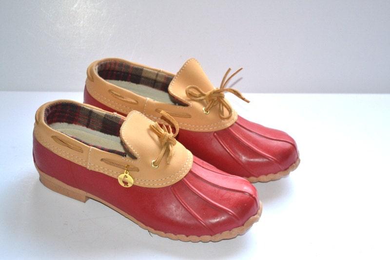 vintage 80s sporto original duck waterproof shoes leather