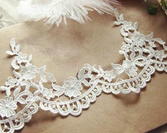 5 yards Bridal Lace Trim ,Crochet Venice Embroidery Lace Trim