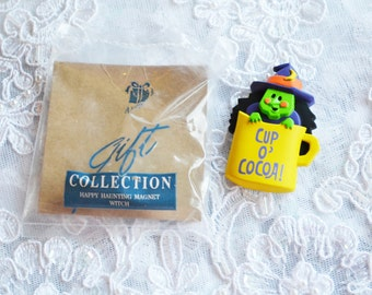 Avon Gift Collection, Happy Hunting Magnet Witch, Pastic, Clearance Sale, Item No. X54