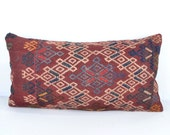 Vintage Hand-Woven Kilim Wool Pillow Cover k213