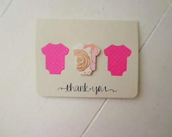 Thank you cards/ Set of 12/ Baby Shower/ Box Set